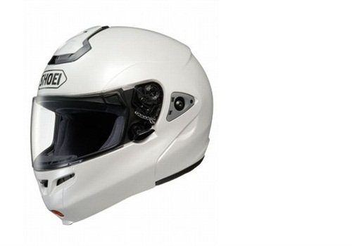 The Shoei Multitec is a full-face modular helmet offering greater officer-safety features. Photo: Shoei