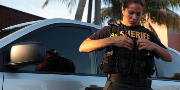 Ana Murillo is one of four female deputies from the Broward Sheriff's Office who are featured in...
