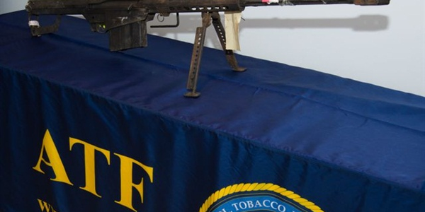 Branch Davidians fired this .50-caliber Barrett rifle at ATF agents during the Waco raid. Photo...