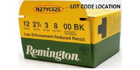 Remington Recalls LE 00-Buck Shells