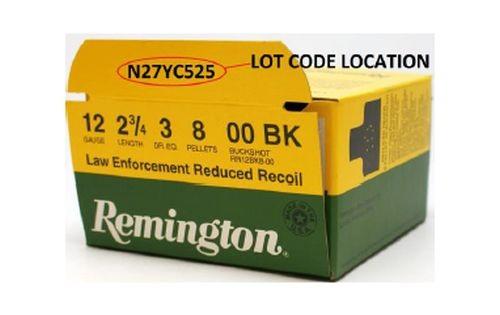 Remington Recalls LE 00-Buck Shells