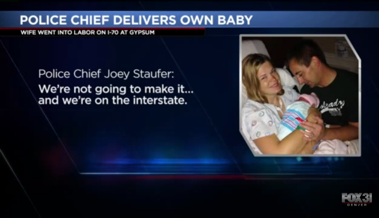 Video: Colorado Police Chief Delivers Baby Daughter on Side of Road