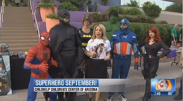 Video: Phoenix Officer Creates Superhero Event to Empower Abused Children