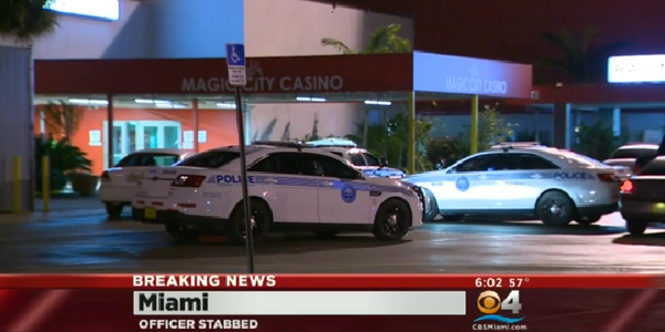 Video: Officer Stabbed in Face at Miami Casino