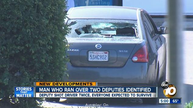 Video: Suspect Runs Over 2 San Diego Deputies, Deputy Shoots Driver