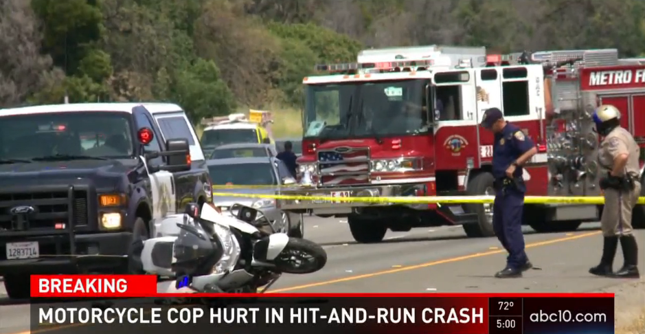 Video: California Motor Officer Injured in Hit and Run, Suspect Arrested