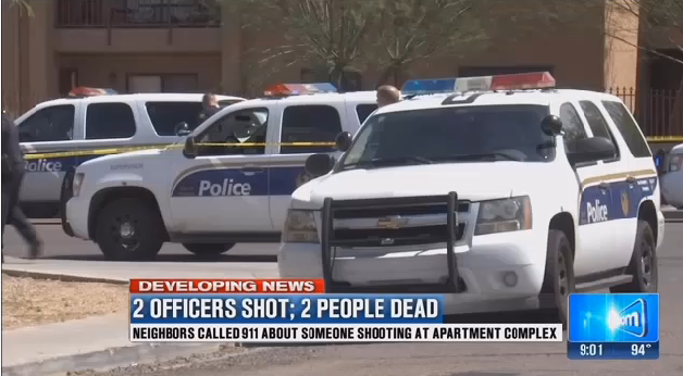 Video: 2 Phoenix Officers Shot in Gun Battle Now Home From Hospital