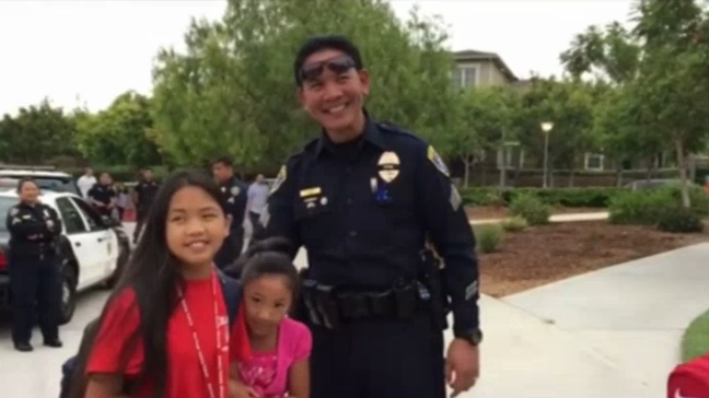 Video: San Diego PD Officers Drive Fallen Officer's Daughter to School