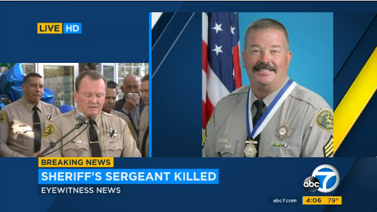Video: Gunman Stood Over and 'Executed' L.A. County Sheriff's Sergeant, Sheriff Says