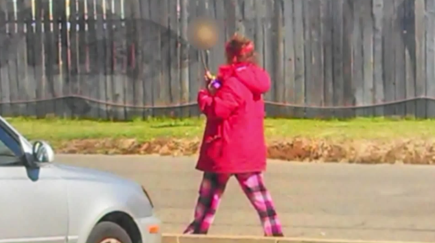 Video: Woman Carrying Skull on Stick Leads CA Police to Human Remains