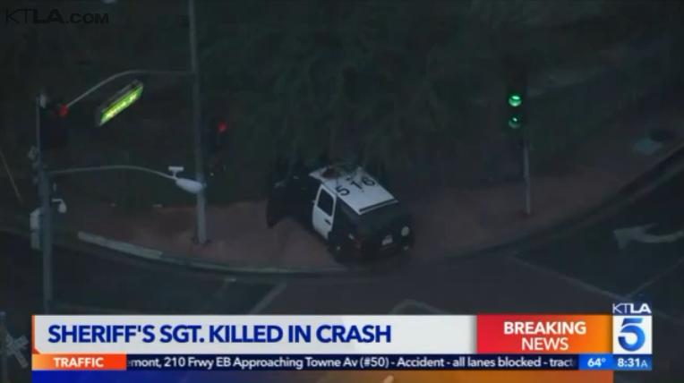 Video: L.A. County Sheriff's Sergeant Dies in Crash