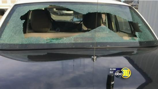 Video: Suspect Shoots at CA Police Car as Civilian Rides Along