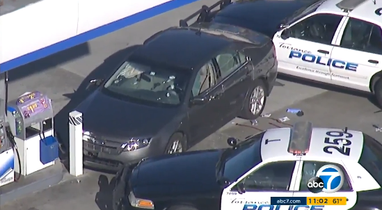Video: CA Woman Rams Squad Car, Dies in Shooting