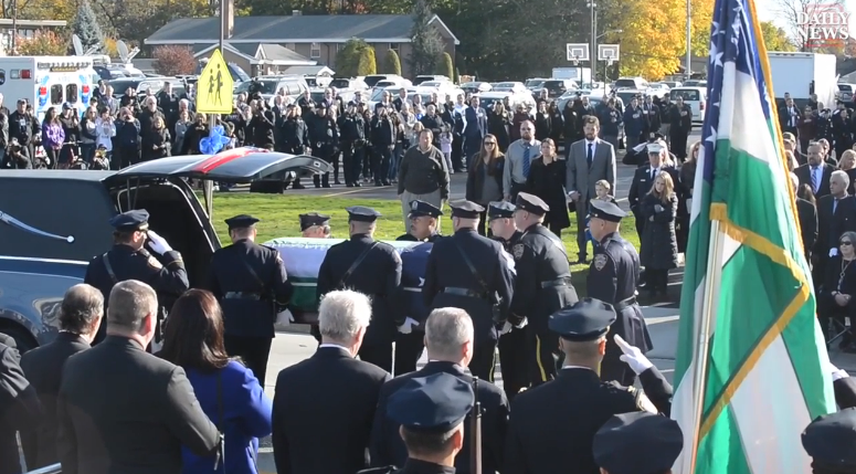 Video: Thousands Attend Funeral for Slain NYPD Sergeant