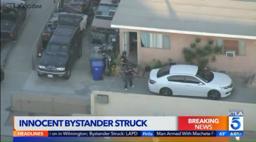 Video: 2 Detained After Shots Fired at CA Officers, Bystander Wounded