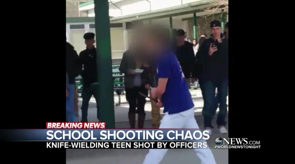 Video: SRO Shoots Knife-Wielding Student at NV High School
