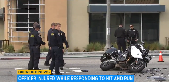 Video: CA Motor Officer Critically Injured Responding to Fatal Crash