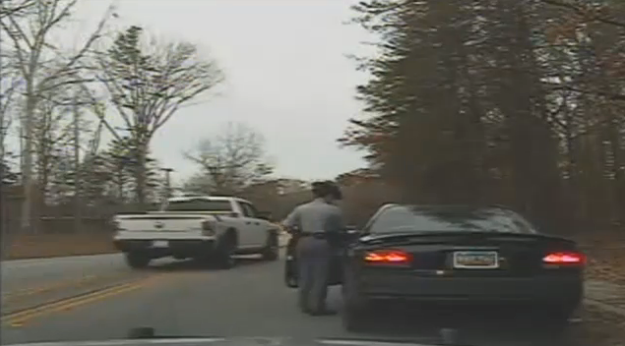 Video: SC Trooper Chases Down and PITs Suspect After Being Dragged at T-Stop