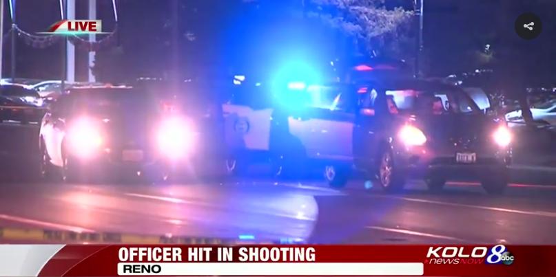 Video: NV Officer Shot, Manhunt Underway for Suspect