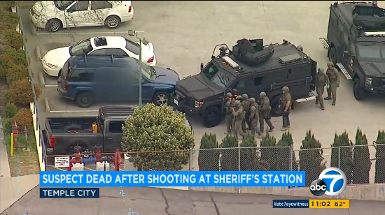 Video: Suspect Opens Fire on Deputies at CA Sheriff's Station