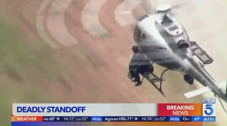 LAPD Sniper Fired from Helicopter to End Shootout