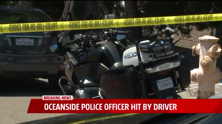 Video: CA Motor Officer Intentionally Hit by Driver, Police Say