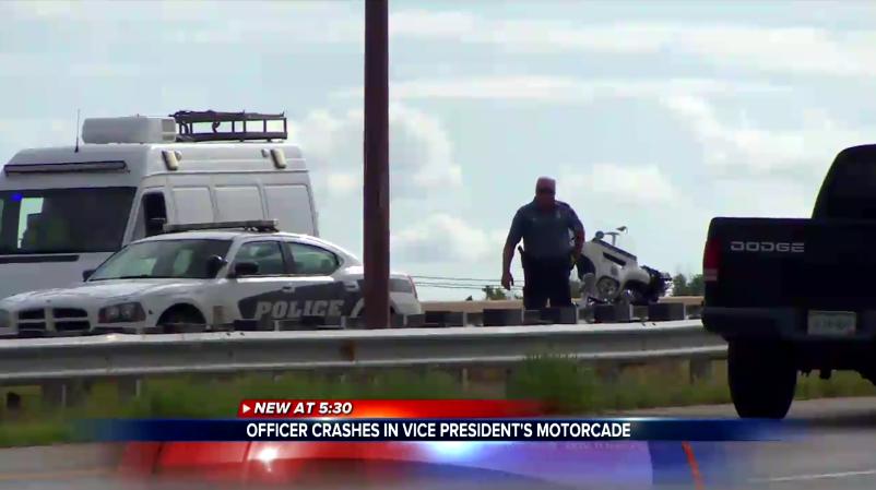 Video: CO Motor Officer Injured in Crash Escorting VP Pence's Motorcade