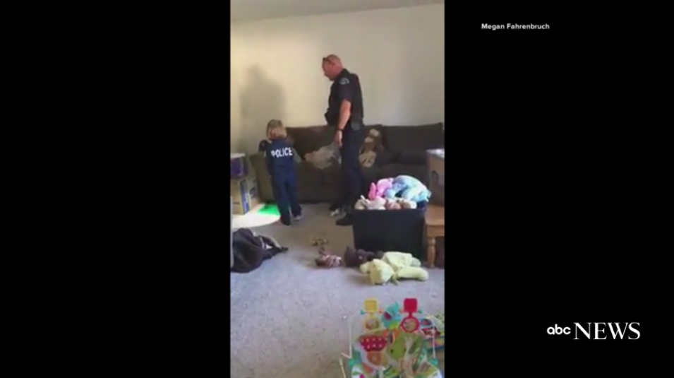 Video: 4-Year-Old Asks CO Officer to Check for Monsters in New Home