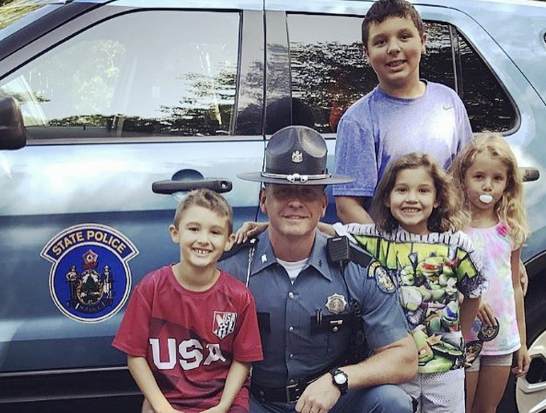 ME Trooper Visits Murder Victim's Children He Helped Rescue