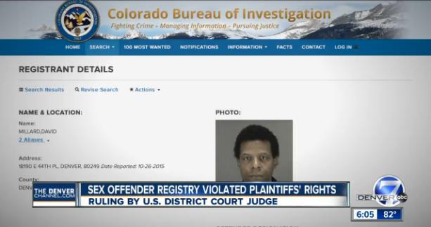 Video: Judge Declares CO Sex Offender Registration Act Unconstitutional