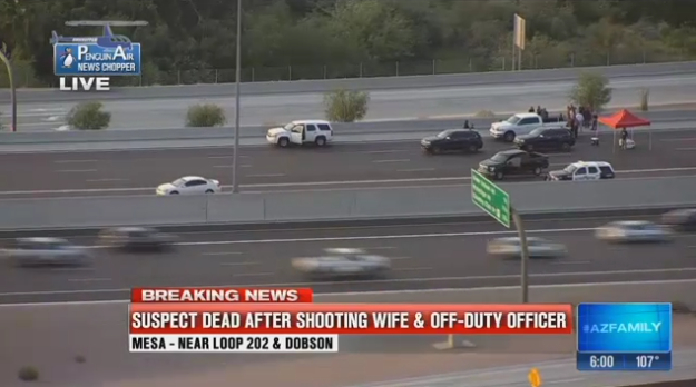 Video: Suspect Dead After Shooting Wife and Off-Duty AZ Officer