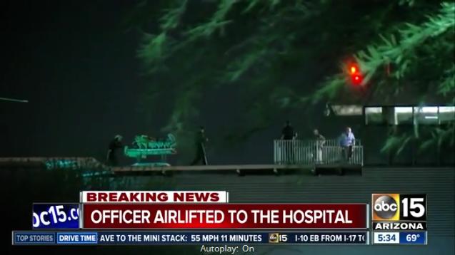 Video: AZ Officer, K-9 Injured in Shooting; Suspect Dead