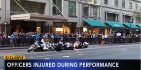 Video: 3 Philadelphia Officers Injured in Motorcycle Stunt Performance at IACP