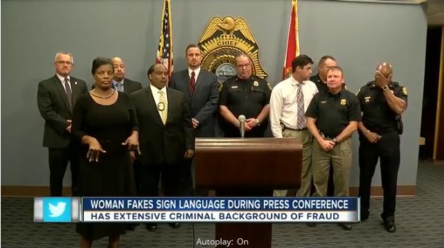 Video: Phony Interpreter Uses Fake Sign Language at FL