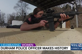 Video: NC Officer Becomes Department's First Female Sharpshooter
