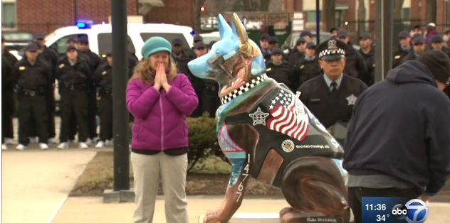 Video: Memorial to Fallen Officer Unveiled at Chicago Police Academy
