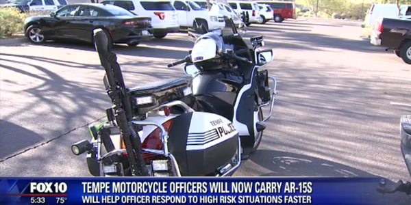 Tempe, AZ, police say eight of the department's motorcycles have been equipped with AR-15...