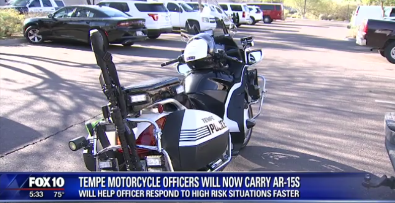 Video: Arizona Department Equips 8 Motorcycles With AR-15s