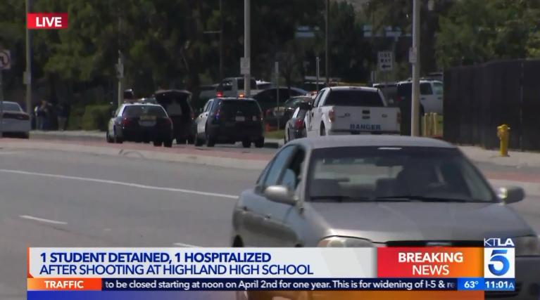 Video: Off-Duty Officer Apprehends Teen CA School Shooter Suspect
