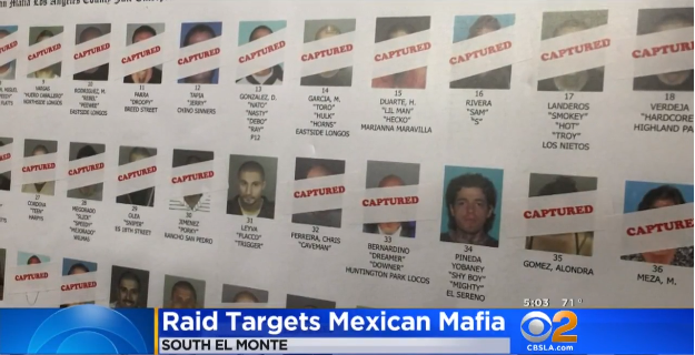 Video: FBI Raids Target Mexican Mafia's L.A. Jail Drug Trafficking