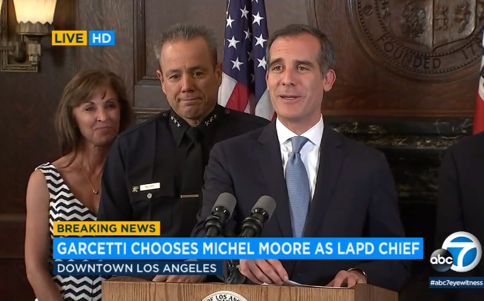 Video: New LAPD Chief is 36-year Veteran Michel Moore
