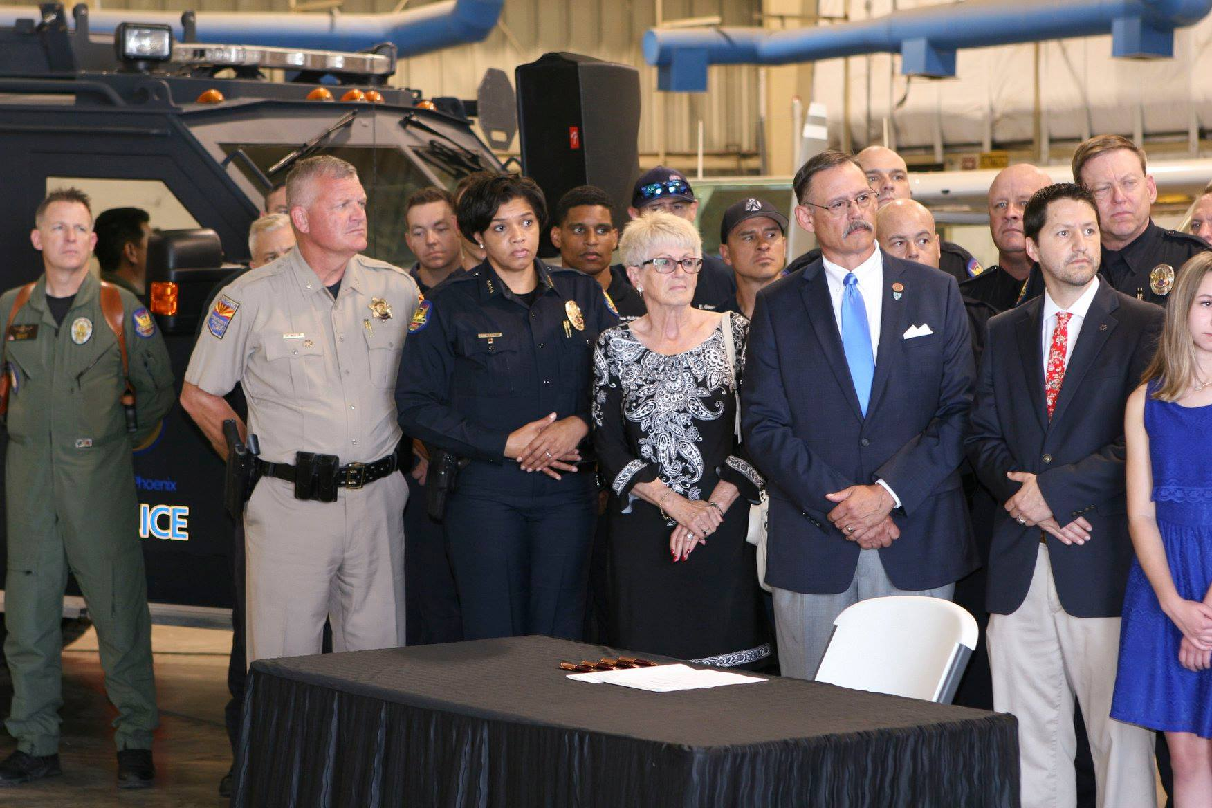 Arizona Governor, Accompanied by Phoenix Officials, Signs New First Responder PTSD Bill into Law