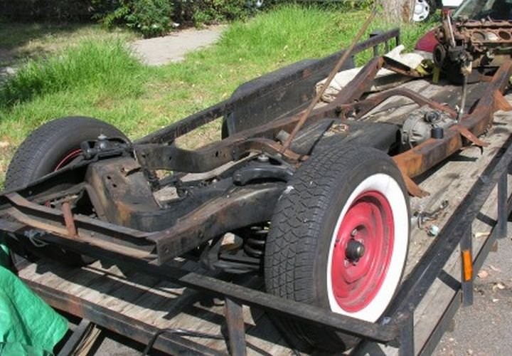 LASD Recovers Ford Hot Rod at Chop Shop