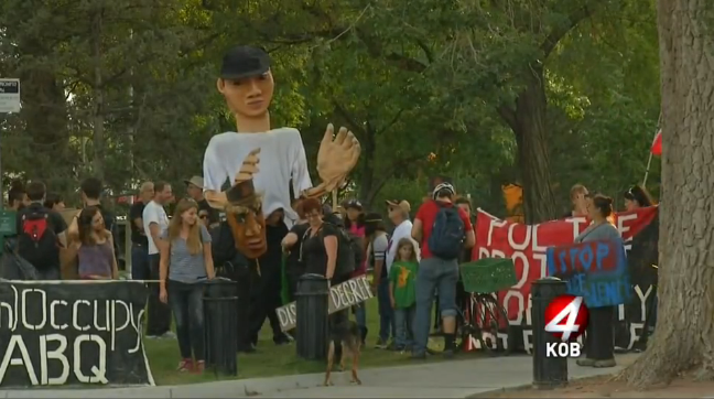 Video: Demonstrators Protest NRA Police Shooting Championship in Albuquerque