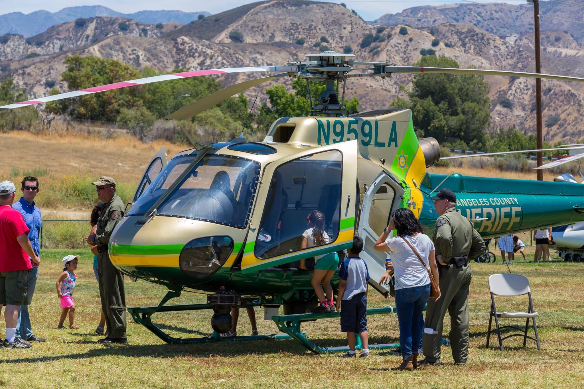 California Police Departments Display Helicopters at American Heroes Air Show