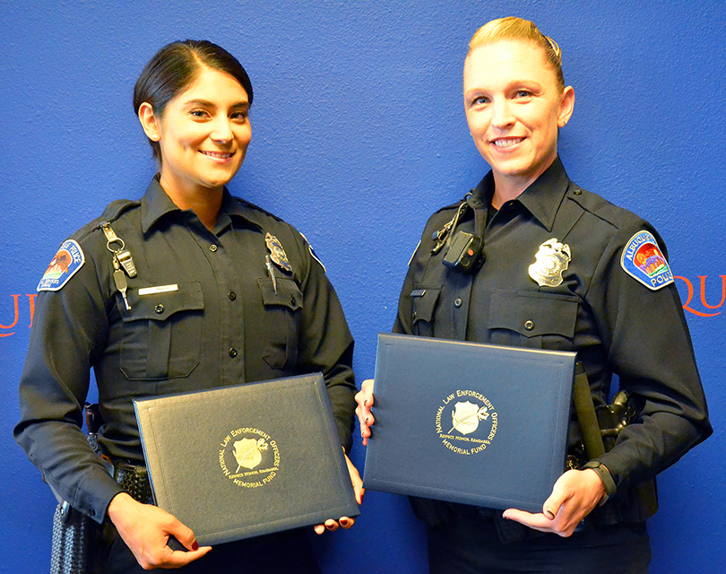 NLEOMF Names 2 Albuquerque Officers October 2016 Officers of the Month