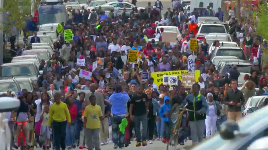 Protests Continue in Baltimore Over In-Custody Death, Union Chief Compares Crowd to