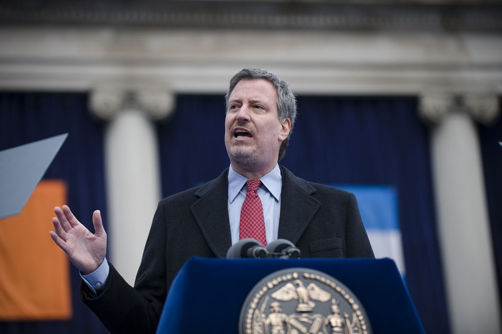 De Blasio Speaks Out about NYPD Officers' Back-Turning at Funerals