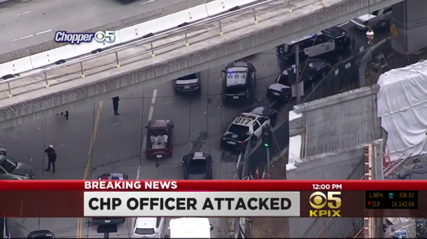 Video: Homeless Suspect Slashes Throat of CHP Officer in San Francisco