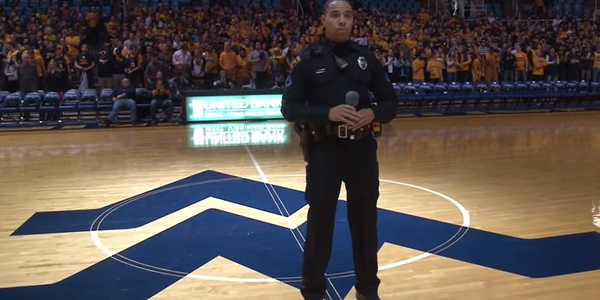 Video: Campus Officer Steps in for Singer to Perform Stirring Version of National Anthem